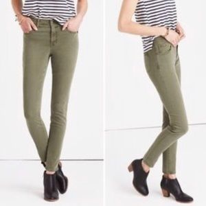 Madewell high rise coloured skinny jeans size 26